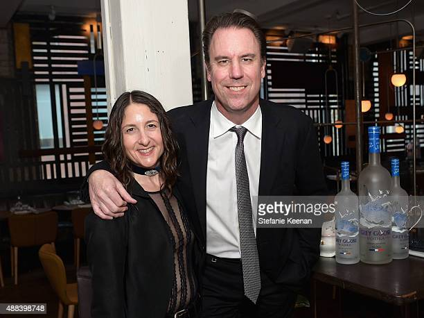 Screenwriter Hanna Weg and producer Mark Gill attend the Septembers of Shiraz TIFF Party Hosted By GREY GOOSE Vodka at Byblos on September 15 2015 in...