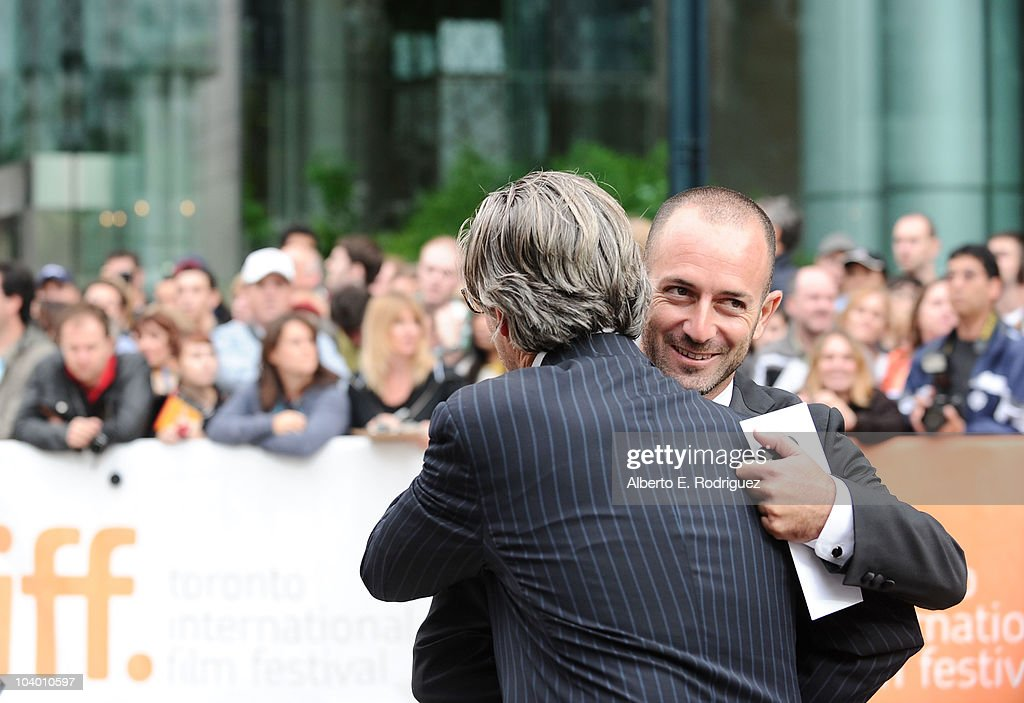 Screenwriter James D. Solomon (R) arrives at the 'The Conspirator' Premiere held at Roy Thomson Hall during the 35th Toronto International Film Festival on September 11, 2010 in Toronto, Canada.