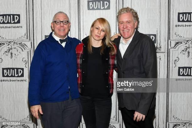 screenwriter James Schamus screenwriter Kitty Green and producer Scott Macaulay attend the Build Series to discuss the film 'Casting JonBenet' at...