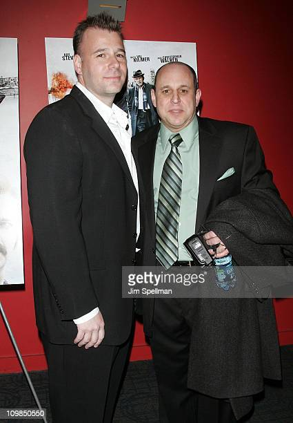 Screenwriter Jeremy Walters and writer Rick Porrello attend the premiere of Kill the Irishman at Landmark's Sunshine Cinema on March 7 2011 in New...