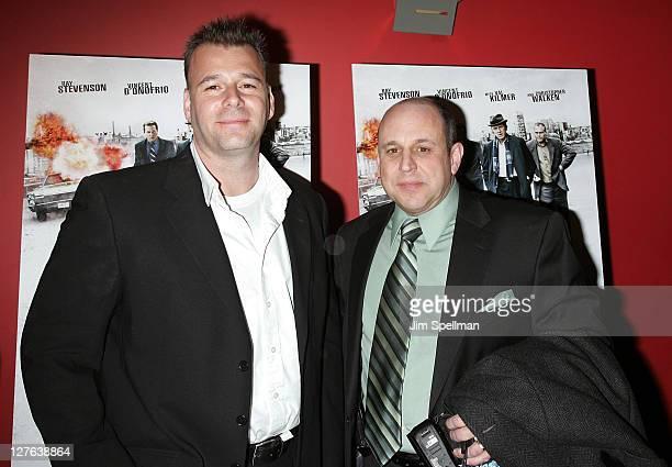 Screenwriter Jeremy Walters and writer Rick Porrello attend the premiere of 'Kill the Irishman' at Landmark's Sunshine Cinema on March 7 2011 in New...