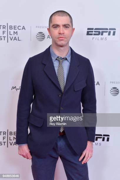 Screenwriter Jesse Lichtenstein attends a screening of 'No Greater Law' during the 2018 Tribeca Film Festival at Cinepolis Chelsea on April 19 2018...