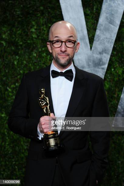 Screenwriter Jim Rash winner of the Best Adapted Screenplay Award for 'The Descendants' arrives at the 2012 Vanity Fair Oscar Party hosted by Graydon...