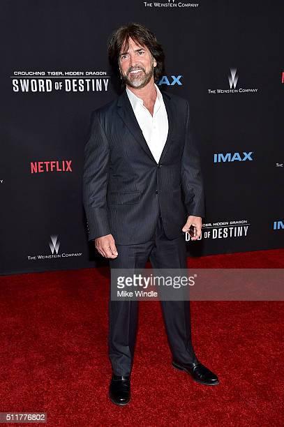 Screenwriter John Fusco attends the premiere of Netflix's Crouching Tiger Hidden Dragon Sword Of Destiny at AMC Universal City Walk on February 22...