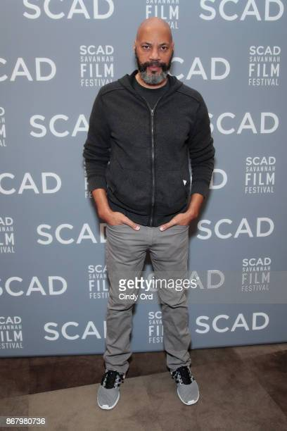Screenwriter John Ridley poses backstage at Docs To Watch panel during the 20th Anniversary SCAD Savannah Film Festival on October 29, 2017 in...