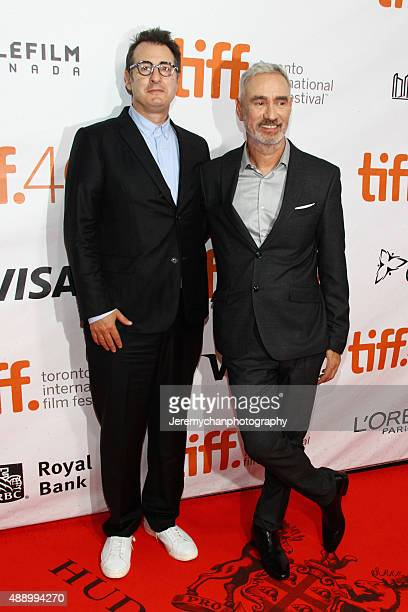 Screenwriter Jon Robin Baitz and Director Roland Emmerich attend the Stonewall premiere during the 2015 Toronto International Film Festival held at...