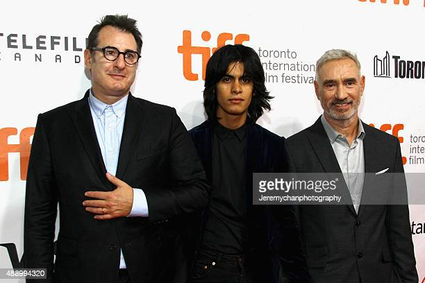 Screenwriter Jon Robin Baitz Gerad Soto and Director Roland Emmerich attends the Stonewall premiere during the 2015 Toronto International Film...