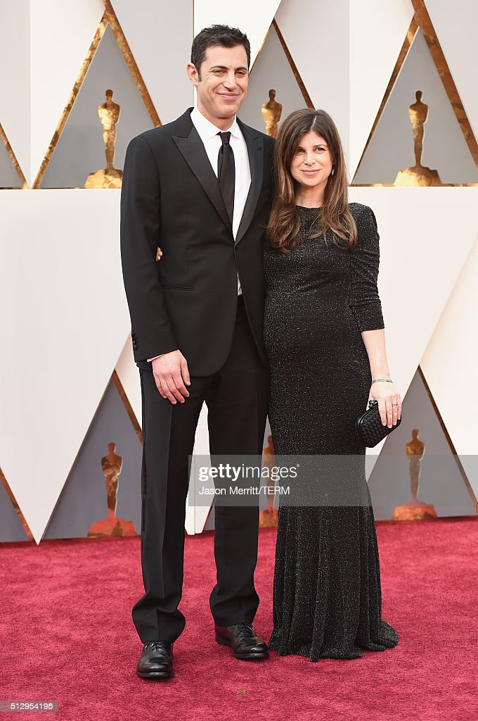 Screenwriter Josh Singer (L) and novelist Laura Dave attend the 88th Annual Academy Awards at Hollywood & Highland Center on February 28, 2016 in Hollywood, California.