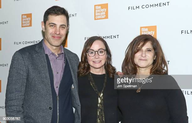 Screenwriter Josh Singer producers Kristie Macosko Krieger and Amy Pascal attend the 2018 Film Society of Lincoln Center and Film Comment luncheon at...