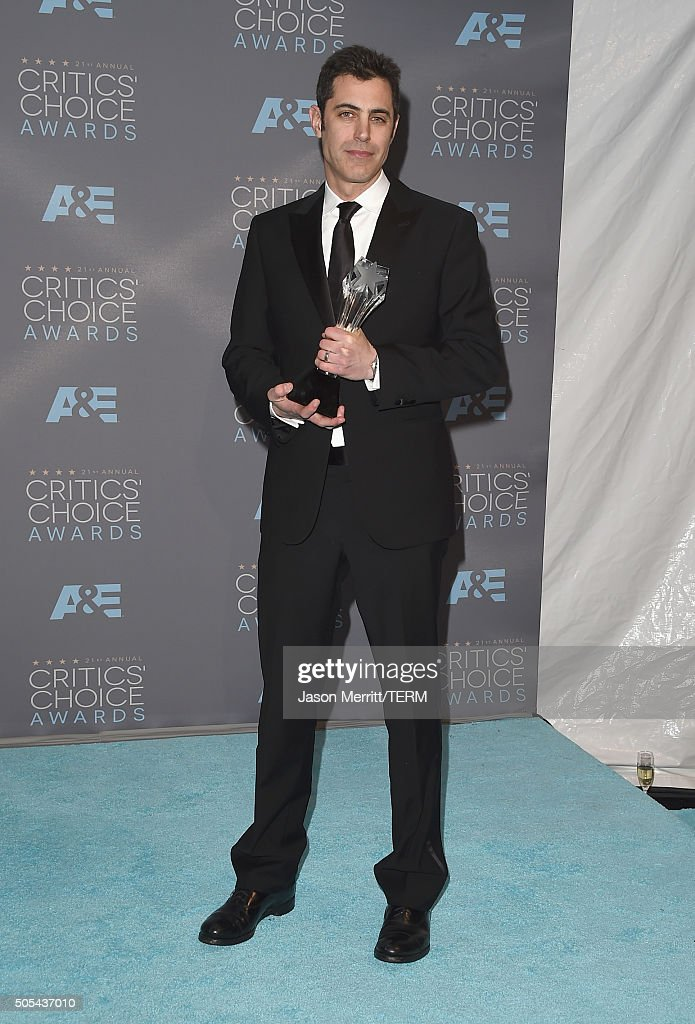Screenwriter Josh Singer, winner of Best Original Screenplay for 'Spotlight', poses in the press room during the 21st Annual Critics' Choice Awards at Barker Hangar on January 17, 2016 in Santa Monica, California.