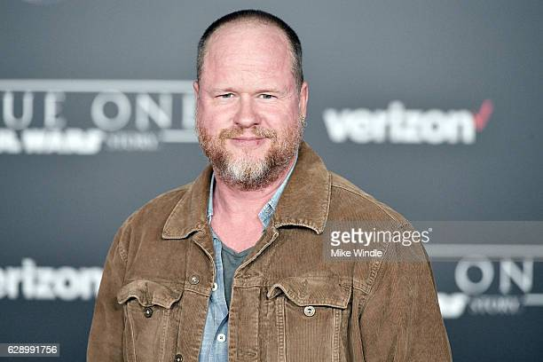 Screenwriter Joss Whedon attends the premiere of Walt Disney Pictures and Lucasfilm's Rogue One A Star Wars Story at the Pantages Theatre on December...