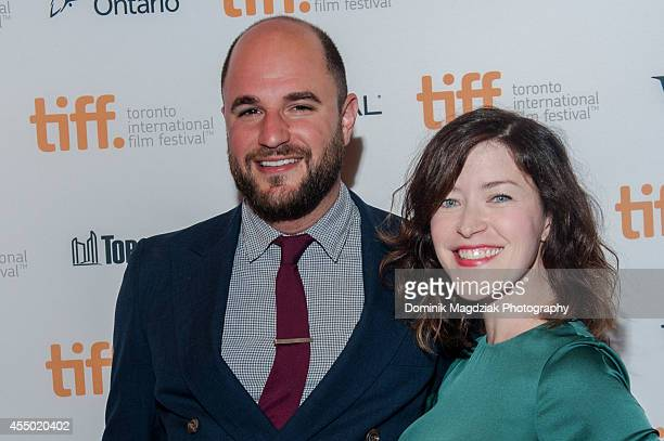 Screenwriter Julia Hart and producer Jordan Horowitz attend The Keeping Room premiere at the Toronto International Film Festival at The Elgin on...
