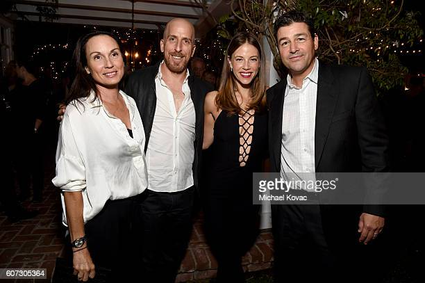 Screenwriter Kathryn Chandler actor Kyle Chandler and guests attend the Gersh Emmy Party presented by World Class Spirits at a private residence on...