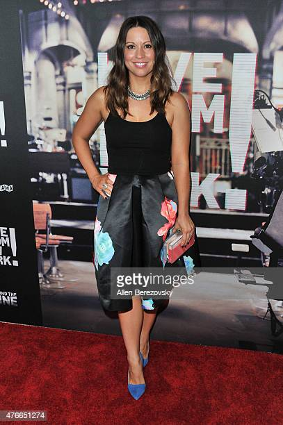 Screenwriter Kay Cannon arrives at the Los Angeles Premiere of Abramorama's Live From New York at Landmark Theatre on June 10 2015 in Los Angeles...