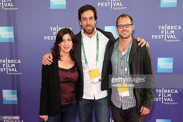 Screenwriter Linda Davis filmmaker Dan Krauss and screenwriter Lawrence Lerew attend 'The Kill Team' Premiere during the 2013 Tribeca Film Festival...