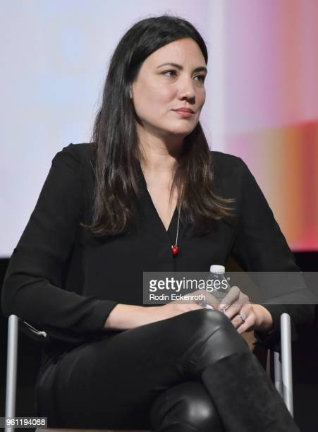 Screenwriter Lisa Joy speaks onstage at the Women in Entertainment and The Television Academy Foundation's Inaugural Women in Television Summit at...
