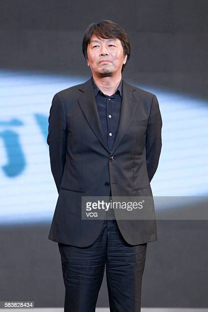 Screenwriter Liu Zhenyun attends the press conference of director Feng Xiaogang's film I Am Not Madame Bovary on July 27 2016 in Beijing China