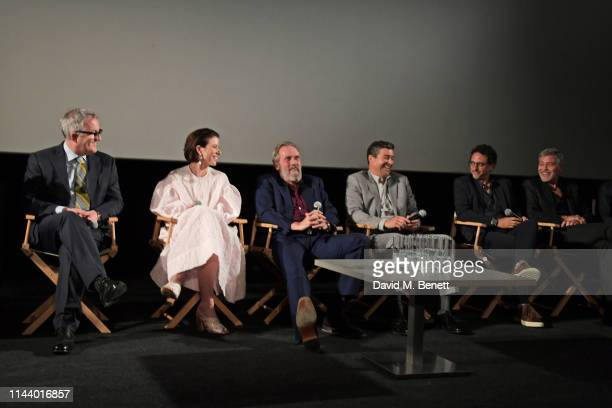 Screenwriter Luke Davies Tessa Ferrer Hugh Laurie Kyle Chandler Grant Heslov and George Clooney attend the London Premiere of new Channel 4 show...