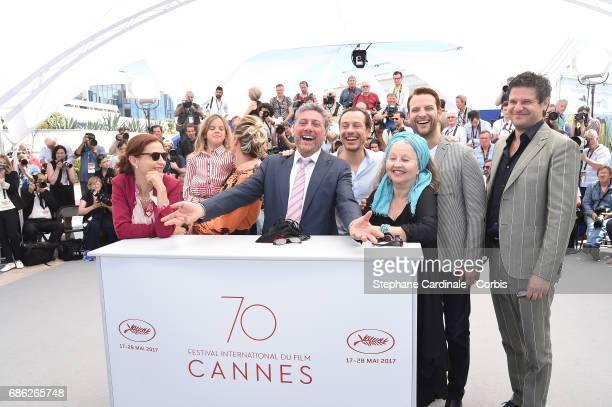 Screenwriter Margaret Mazzantini, actors Nicole Centanni, Jasmine Trinca, director Sergio Castellitto and actors Stefano Accorsi, Hanna Schygulla,...