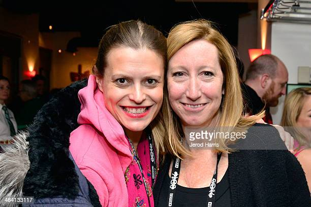 Screenwriter Marianna Palka and Sundance Institute's Executive Director Keri Putnam attend the IMDb Sundance dinner party at the Mustang on January...