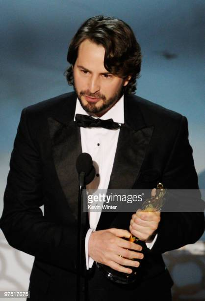 Screenwriter Mark Boal accepts Best Original Screenplay award for The Hurt Locker onstage during the 82nd Annual Academy Awards held at Kodak Theatre...