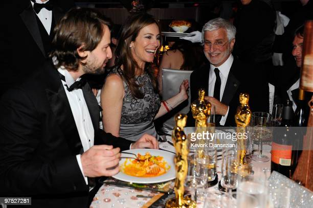 Screenwriter Mark Boal and director Kathryn Bigelow winners of Best Original Screenplay Best Picture and Best Director awards for The Hurt Locker and...