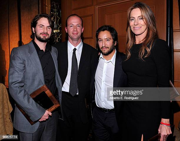 Screenwriter Mark Boal producer Nicolas Chartier producer Greg Shapiro and director Kathryn Bigelow attend the 35th Annual Los Angeles Film Critics...