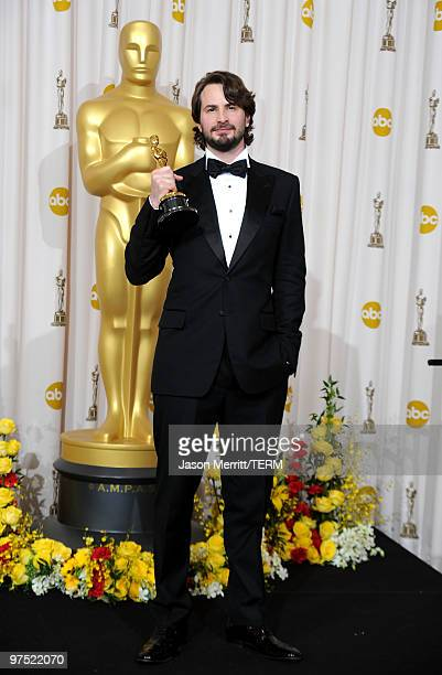 Screenwriter Mark Boal winner of Best Original Screenplay award for The Hurt Locker poses in the press room at the 82nd Annual Academy Awards held at...