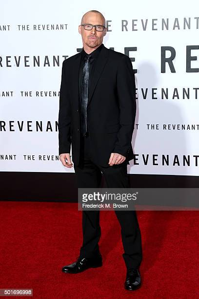 Screenwriter Mark L Smith attends the premiere of 20th Century Fox and Regency Enterprises' The Revenant at the TCL Chinese Theatre on December 16...