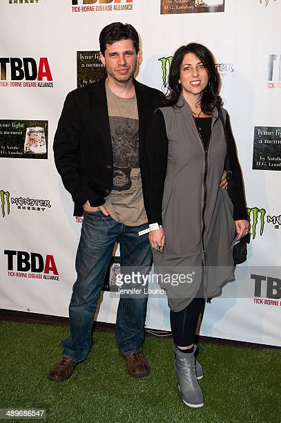 Screenwriter Max Brooks and wife Michelle arrives at the Lyme Light Benefit Concert featuring The All American Rejects And Youngblood Hawke at El Rey...