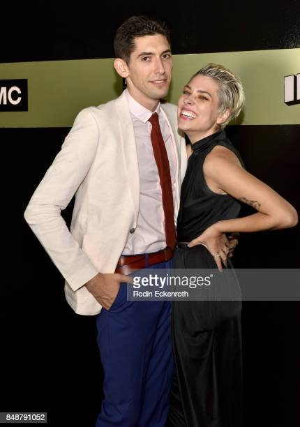 Screenwriter Max Landis and Ani Baker attend AMC Networks 69th Primetime Emmy Awards after-party celebration at BOA Steakhouse on September 17, 2017...