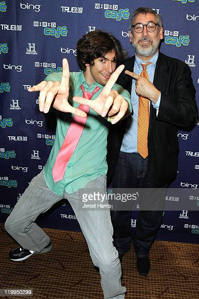 Screenwriter Max Landis and director John Landis attend the WIRED Cafe during day 2 at Comic-Com at Palm Terrace At The Omni Hotel on July 22, 2011...