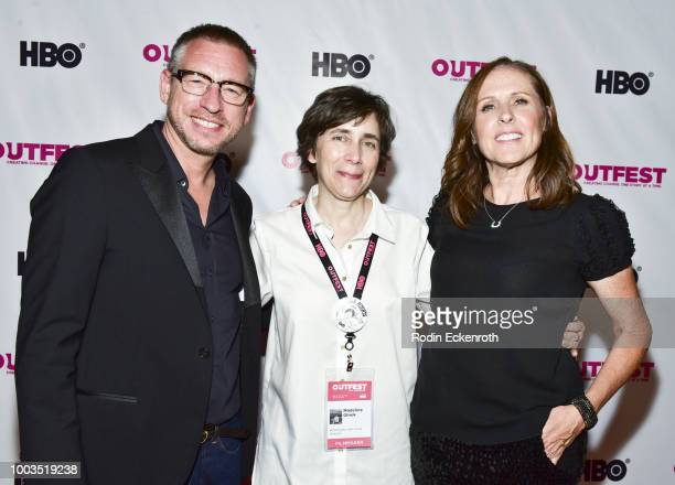 Screenwriter Max RivkindBarron Director/writer Madeleine Olnek and actress Molly Shannon attend the 2018 Outfest Los Angeles LGBT Film Festival...