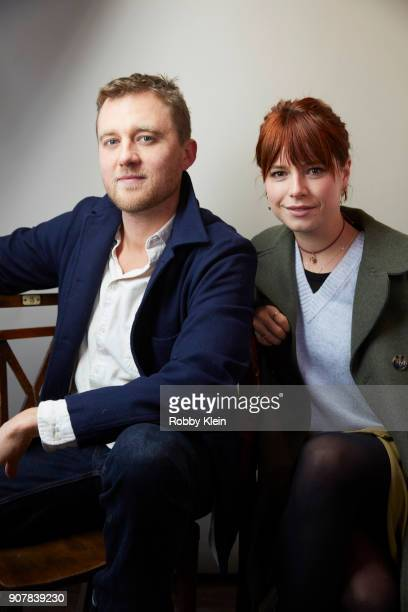 Screenwriter Michael Pearce and Jessie Buckley from the film 'Beast' pose for a portrait in the YouTube x Getty Images Portrait Studio at 2018...