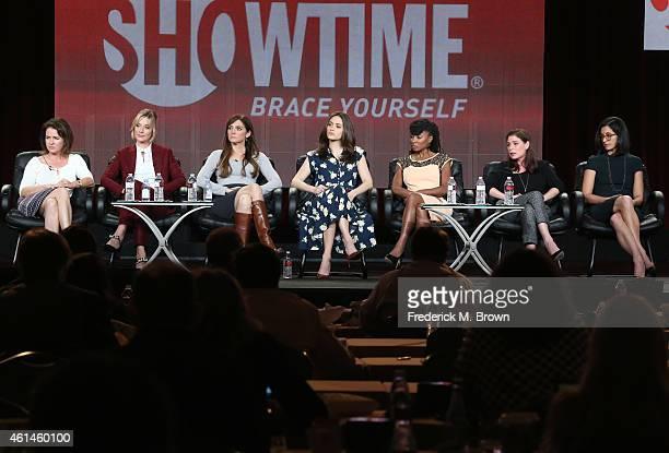 Screenwriter Michelle Ashford, actress Caitlin Fitzgerald, executive producer Nancy M. Pimental, actors Emmy Rossum Shanola Hampton, Maura Tierney...