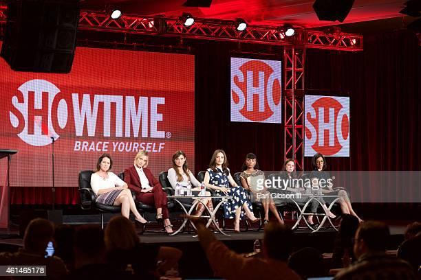 Screenwriter Michelle Ashford, Actress Caitlin FitzGerald, Executive Producer Nancy M. Pimental, Actress Emmy Rossum, Actress Shanola Hampton,...