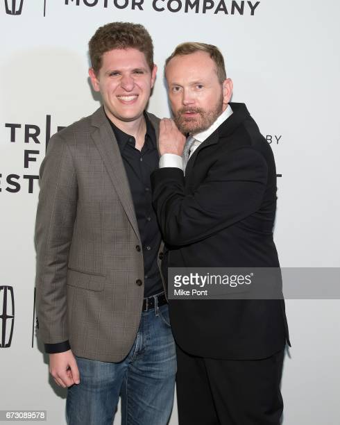 Screenwriter Mike Makowsky and director Pat Healy attend 'Take Me' Premiere during the 2017 Tribeca Film Festival at SVA Theatre on April 25 2017 in...