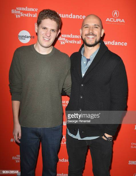 Screenwriter Mike Makowsky and producer Fred Berger attend the I Think We're Alone Now Premiere during the 2018 Sundance Film Festival at Eccles...