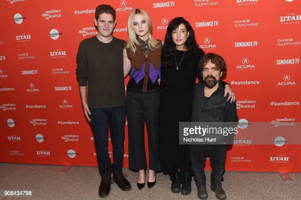 Screenwriter Mike Makowsky Elle Fanning director Reed Morano and actor Peter Dinklage attend the I Think We're Alone Now Premiere during the 2018...