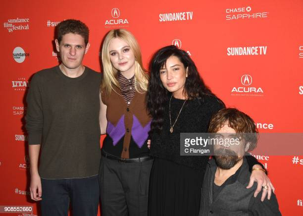 Screenwriter Mike Makowsky Elle Fanning director Reed Morano and actor Peter Dinklage attend the 'I Think We're Alone Now' Premiere during the 2018...