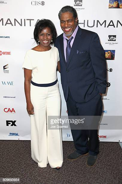 Screenwriter Misan Sagay and President of the Humanitas Awards Ali LeRoi attend the 41st Humanitas Prize Awards Ceremony at Directors Guild Of...