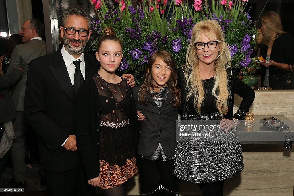 Screenwriter Morwenna Banks (R) and family attend the Montblanc & The Cinema Society screening of Roadside Attractions & Lionsgate's 'Miss You Already' after party at The Rainbow Room on October 25, 2015 in New York City.