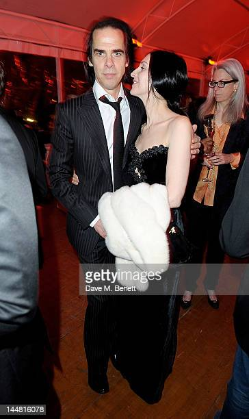 Screenwriter Nick Cave and Susie Bick attend the 'Lawless' after party hosted by Manuele Malenotti Johnnie Walker Blue Label and Chopard during the...