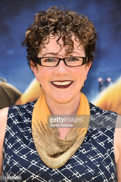 Screenwriter Nicole Perlman attends the premiere of Pokemon Detective Pikachu at Military Island in Times Square on May 2 2019 in New York City