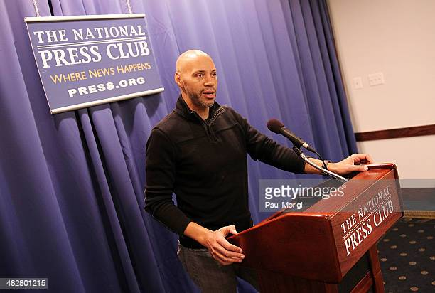 Screenwriter of '12 Years a Slave' John Ridley makes a few remarks at the A Conversation With John Ridley event presented by the National Association...