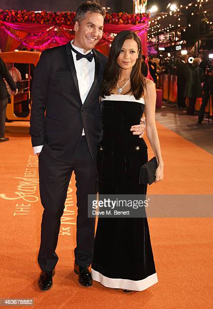 Screenwriter Ol Parker and Thandie Newton attend The Royal Film Performance and World Premiere of The Second Best Exotic Marigold Hotel at Odeon...
