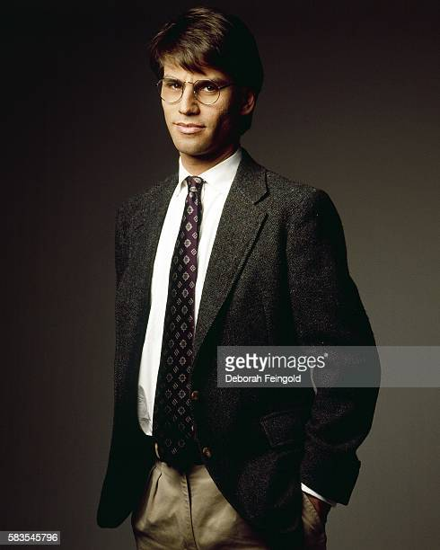 Screenwriter playwright and producer Aaron Sorkin poses for a portrait in November 1989 in New York New York