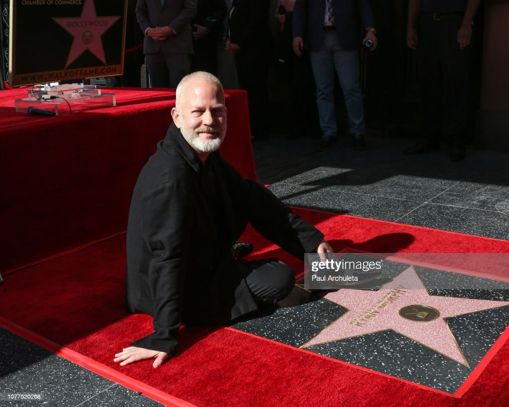 Ryan Murphy Honored With Star On The Hollywood Walk Of Fame : News Photo