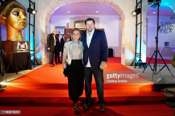 Screenwriter Ramon Campos and producer Teresa Fernandez Valdes attend Alta Mar second season preview by Netflix at Noia Festival at the hometown of...