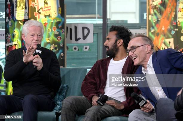 Screenwriter Richard Curtis actor Himesh Patel and director Danny Boyle visit Build to discuss the movie Yesterday at Build Studio on June 25 2019 in...
